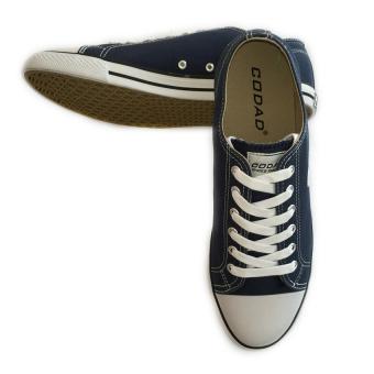 Giày sneaker nam cổ thấp CODAD CANVAS (Xanh đen)