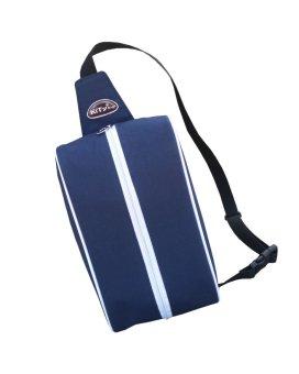 Túi đeo 1 quai chéo đa năng C020 (Xanh đen - Trắng)