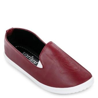 Giày slip on sư tử Sarisiu SRS818 (Đỏ đô)