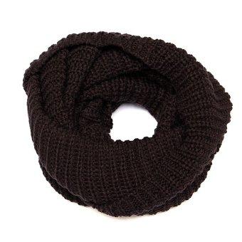 Fashion Women Knit Blend Cowl Snood Long Warm Neck Circle Scarves - Intl