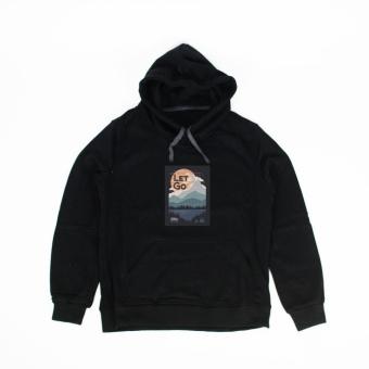 Áo khoác hoodie nữ in hình Let Go (đen)