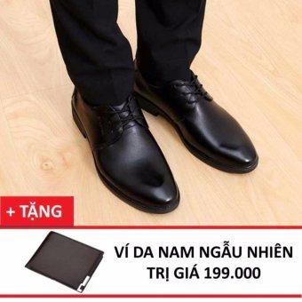Giày Tây Nam Zapas - GT031 (Đen ) + Tặng Ví Nam