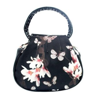 Women Floral leather Shoulder Bag Satchel Handbag Retro Messenger Bag - intl