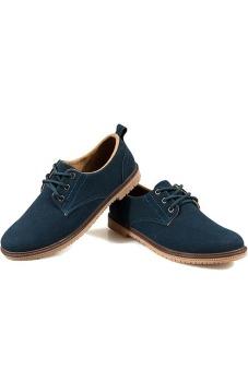 Giày bốt da lộn Giày Glado G06X (Xanh)