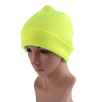 Men Women Knit Ski Cap Hip-Hop Fluorescent (Intl)