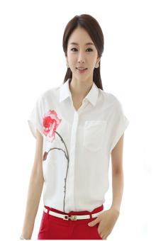 Sơ mi nữ hoa hồng Zahra SM68 (Trắng)