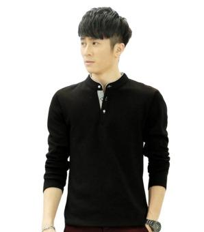 Áo thun nam tay dài Style Hàn Quốc DONGKHOI DK313 (Đen)