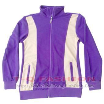 Áo khoacs nữ dây kéo nhựa - màu tím