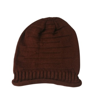 Unisex Fashion Winter Knit Beanie Baggy Hat Sports Cap for Christmas Gift Coffee