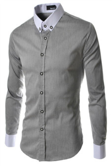 Reverieuomo CS29 Single-Breasted Shirt Gray - Intl