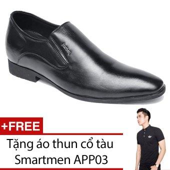 Giày lười tăng chiều cao công sở SMARTMEN H11 + Tặng áo thun cổ tàu SMARTMEN APP03
