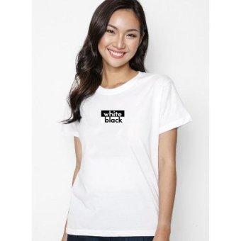 Áo Thun In Hình Slogan Black And White