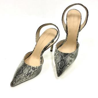Giày cao gót thời trang Snake print (Đen)