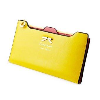 Fashion Women Leather Clutch Wallet Long Card Holder Case Purse Handbag (Yellow) - INTL