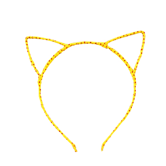 Fashion Headband Hair Band Headwear Hair Clip Cat Ears Design Women Girls Accessories Yellow
