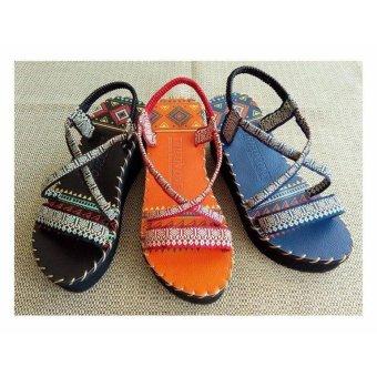 Sandal thổ cẩm cao gót (Đen) TFH8533 #35