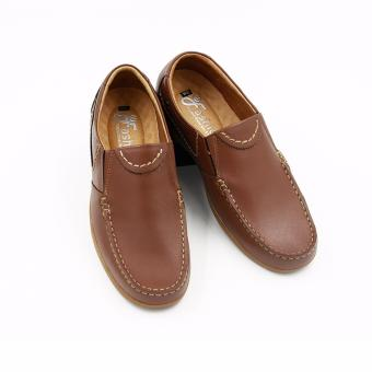 Giày Mọi Nam Đơn Giản Da Thật GM283 (Nâu da bò)
