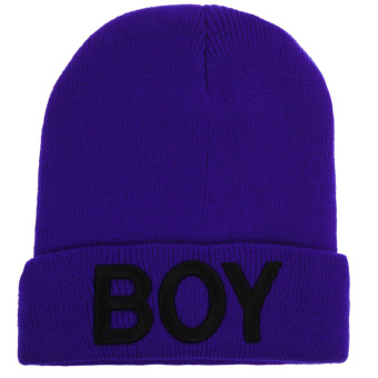 Boy Knitted Woolen Hats(Blue Black) (Intl)