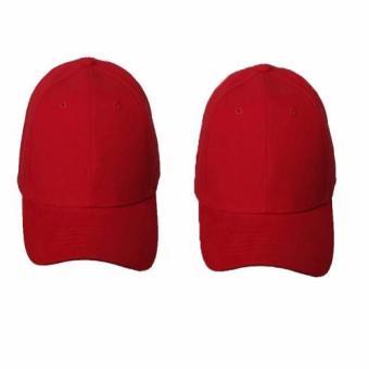 Bộ 2 Nón Lưỡi Trai Nam Nữ (Đỏ)