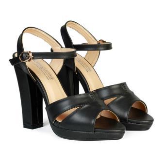 Giày Sandal Nữ Cao Gót 11 cm Đế Đúp HC1342 (Đen)