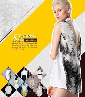 Sunweb Finejo Stylish Ladies Women Casual Sleeveless Backless Patchwork Mini Dress Straight Sundress ( ) - intl