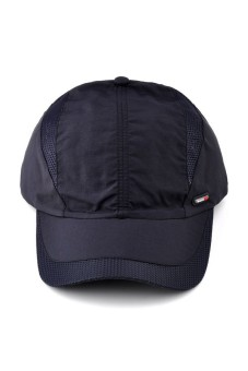 Moonar Fashion Men's Quick drying baseball cap (Navy) - intl