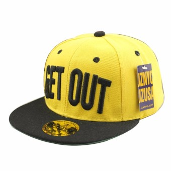 Kids Girls Boys Baseball Hat Street Dance Letter Get Out Snapback Hip-Hop Caps for Child - Intl