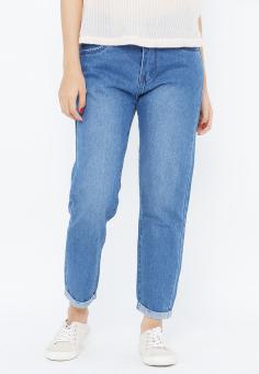 Quần Jeans Boyfriend 9 Tấc Trơn Cung Cấp Bởi AAA Jeans