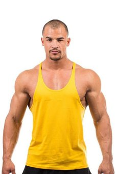 LALANG Fitness Sports Vest Tank Top Undershirt Yellow - Intl