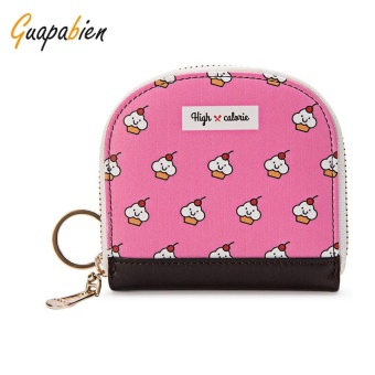Guapabien Cute Small Item Patterns Mini Wallet Coin Purse for Girls(Papaya) - intl