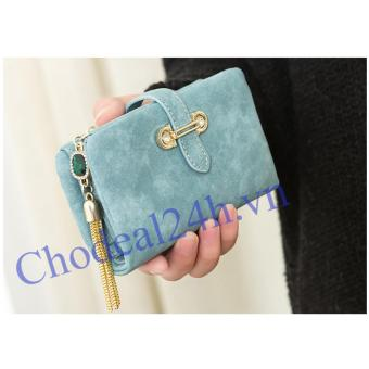 Ví nữ cầm tay ngắn CDVN01 (xanh dương)