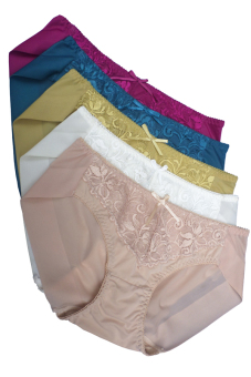 Bộ 05 quần lót nữ pha ren