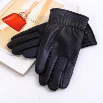 Găng tay nam da tổng hợp cao cấp DaH2 GT0002 màu đen