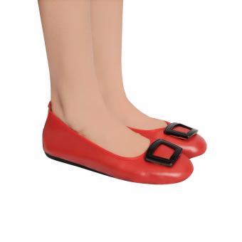 Giày Búp Bê Nữ Da Bò Thật