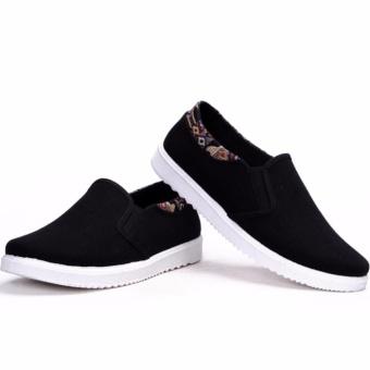 Giày lười vải nam - CV01 ( đen ).