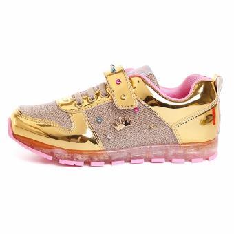Giày thể thao bé gái Disney SP0089 từ 6-10 tuổi (vàng)