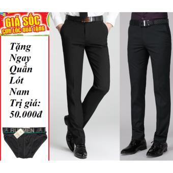 Bộ 2 quần tây nam thời trang[đen- xanh đen] + Tặng quần lót nam
