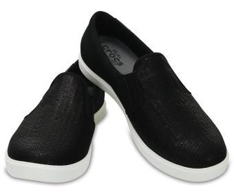 Giày lười nữ Crocs CitiLane Sequin Slip-on W Blk 204285-001 (đen)