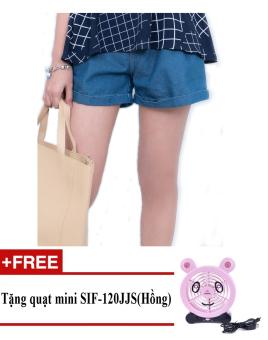 Quần Short nữ thời trang cá tính ZASKIN ZA04Q6 + Tặng quạt mini shinil SIF-120JJS (Hồng)