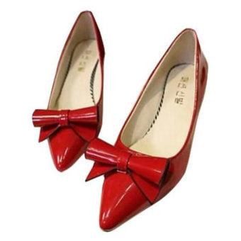 Giày nữ mũi nhọn Family shop HB10 (Đỏ)