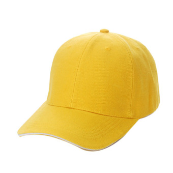 Unisex Plain Baseball Sport Cap Blank Curved Visor Hat Yellow