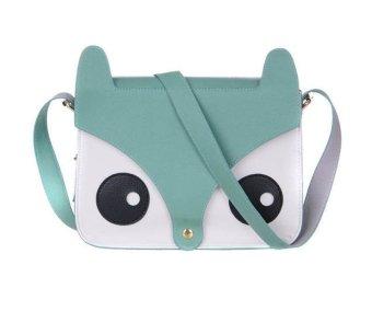 Cartoon Fox Handbags Girl Women Shoulder Bag Bag Green - Intl