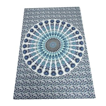 Summer Rectangle Mandala Beach Hippie Yoga Mat Towel Bohemian Tapestry Shawl - intl