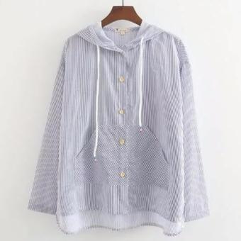 Áo khoác nữ tay dài sọc hoạ tiết hoa LTTA181
