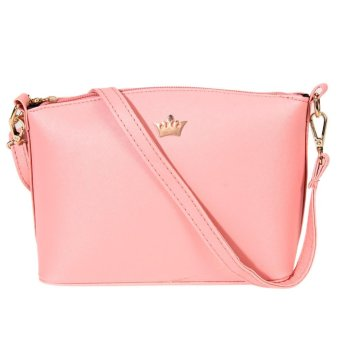 mini Womenhe haped Cro Pattern Iperia Crown eenger Bag (pink)