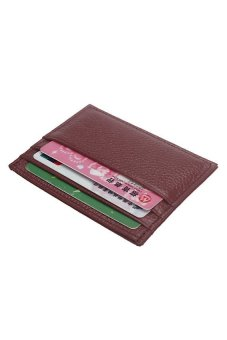 HKS Slim Credit Card Holder Mini Wallet ID Case Purse Bag Pouch Red - intl
