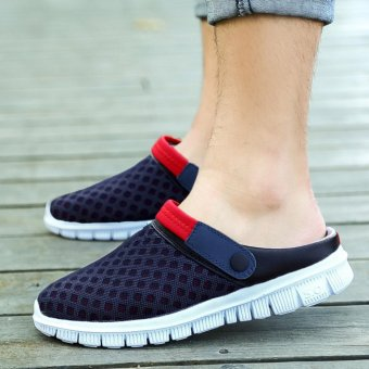 Men Sandals Summer Shoes Hollow Foam Bottom Breathable Casual Beach Slippers (Red) - intl
