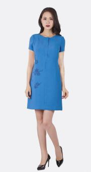 Đầm tuytsi họa tiết hoa eo Bella moda