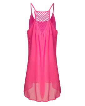 Zanzea Womens Summer Sleeveless Beach Dress (Rose) - Intl