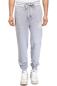 Bellfield Men's Jog Pants With Tipping And Print Grey